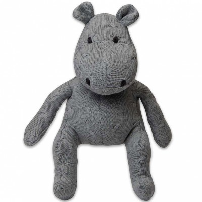 Peluche hippopotame Cable Uni gris (35 cm) Baby's Only