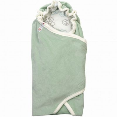 Couverture d'emmaillotage Empire Silt Green vert d'eau Tog 1,2 (110 x 110 cm)  par Lodger