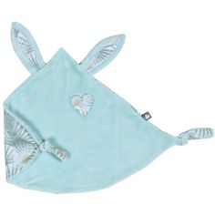 Doudou attache sucette lapin petit coeur Palm Springs