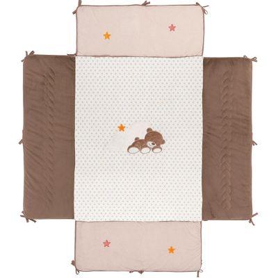 Fond de parc avec rebords Basile l'ours (75 x 95 cm)  par Nattou