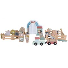 Lot de figurines en bois pour circuit Zoo