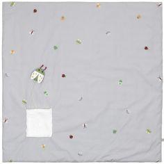 Tapis de jeu insectes gris (100 x 100 cm)