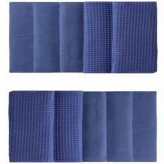 Tour de lit modulable & respirant indigo Mix & Match (pour lits 60 x 120 cm et 70 x 140 cm)