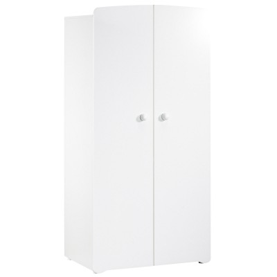 Armoire 2 portes New Basic Boutons boule blanc Baby Price