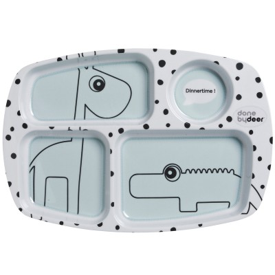 Assiette plateau Dots bleu  par Done by Deer