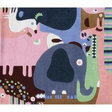 Tapis Puzzle animaux Safari (160 x 190 cm)  par AFKliving