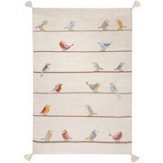 Tapis enfant Kilim petits oiseaux (110 x 160 cm)