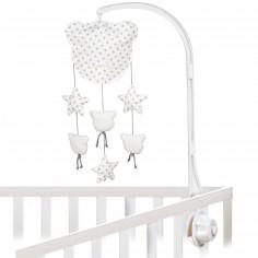 mobile musical anges et lune trousselier berceau magique. Black Bedroom Furniture Sets. Home Design Ideas