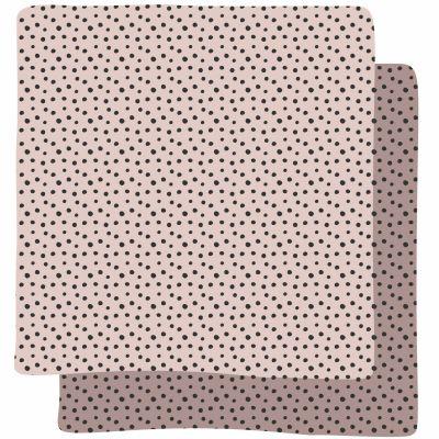 Lot de 2 langes Happy Dots rose (70 x 70 cm)   par Done by Deer