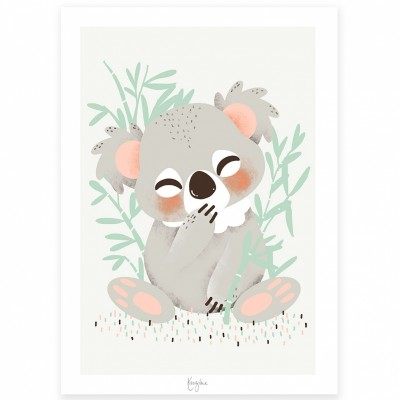 Carte A5 Les Animignons le koala  par Kanzilue