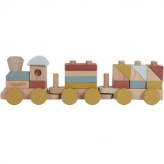 Train de construction en bois Pure & Nature (22 pièces)