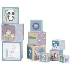 Blocs empilables en carton Zoo (10 pièces)
