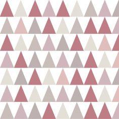 Papier peint intissé Triangles rose (10 m)
