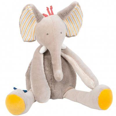Poupée souple éléphant Les Papoum (29 cm)  par Moulin Roty