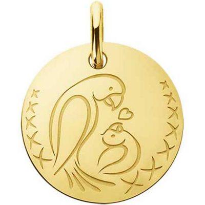 Médaille bébé oiseau Love Bird (or jaune 750°)  par A.Augis