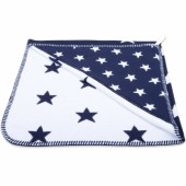 Cape de bain Star bleu marine et blanc (80 x 80 cm) - Baby's Only