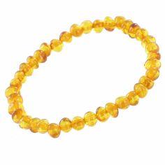 Bracelet en ambre bébé perles (13 cm)