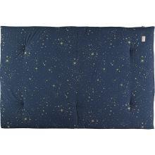 Futon Eden coton bio Gold stella Night blue (100 x 148 cm)  par Nobodinoz