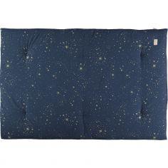 Futon Eden coton bio Gold stella Night blue (100 x 148 cm)