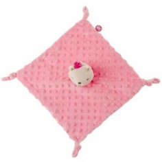 Doudou plat ours rose Stories