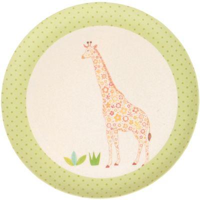 Petite assiette en bambou Girafe (20,5 cm) Love Maé