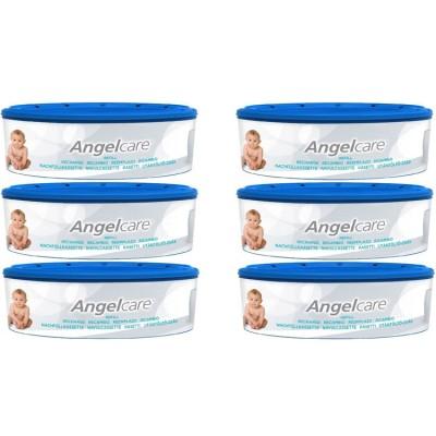Pack de 6 recharges rondes pour poubelle à couches  par Angelcare