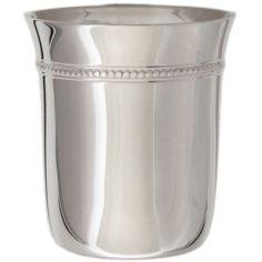 Timbale évasée Perles personnalisable (métal argenté)