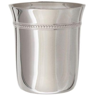 Timbale évasée Perles personnalisable (métal argenté)  par Aubry-Cadoret