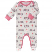 Pyjama léger Eléphant rose (3-6 mois : 60 à 67 cm) - Fresk