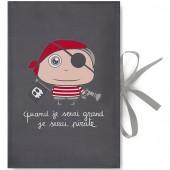 Protège carnet de santé Quand je serai grand je serai pirate - Isabelle Kessedjian