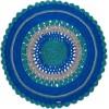 Tapis rond Gypsy coton mix bleu (120 cm) - Varanassi