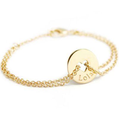 Bracelet Poème coeur (plaqué or jaune)  par Petits trésors