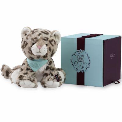 Coffret peluche Cookie le léopard (25 cm) Kaloo
