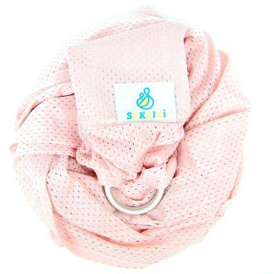 Echarpe de portage Sling Sukkiri rose pâle  par Lucky