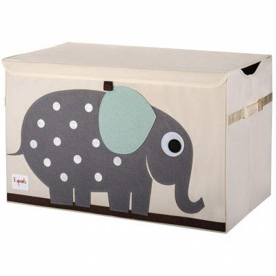 Coffre à jouets caisse de rangement Elephant 3 sprouts