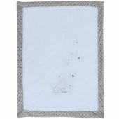 Couverture veloudoux Poudre d'étoiles bleue (75 x 100 cm) - Noukie's