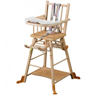 Chaise haute transformable Marcel en bois massif