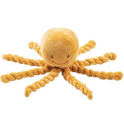 Peluche pieuvre Lapidou ocre (23 cm)  par Nattou