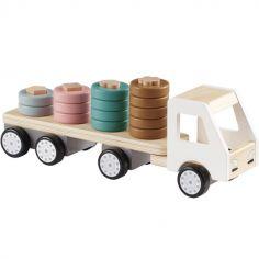 Camion avec anneaux en bois Aiden