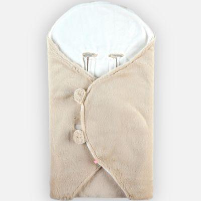 Couverture nomade à longs poils Mix & Match ivoire  par Noukie's