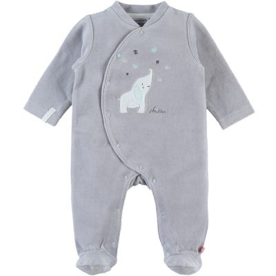 Pyjama chaud gris Eléphant Anna & Milo (1 mois)  par Noukie's