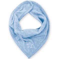 Bavoir bandana Stary bleu shade à points (25 cm)