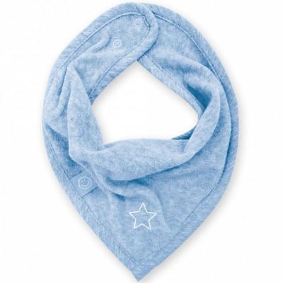 Bavoir bandana Stary bleu shade à points (25 cm)  par Bemini
