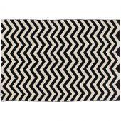 Tapis lavable zigzag noir et blanc (140 x 200 cm) - Lorena Canals