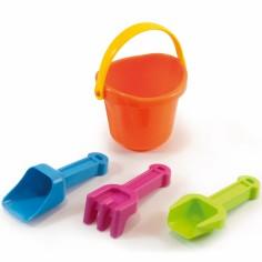 Set jouet de plage avec 4 accessoires orange