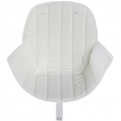 Assise tissu chaise haute Ovo Luxe blanc