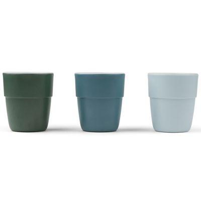 Lot de 3 gobelets Deer friends bleu et vert Yummy mini  par Done by Deer