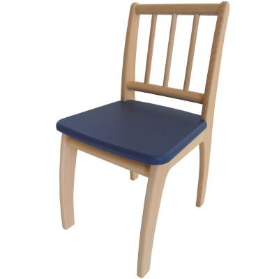 chaise bambino en bois naturel et bleu fonc geuther. Black Bedroom Furniture Sets. Home Design Ideas