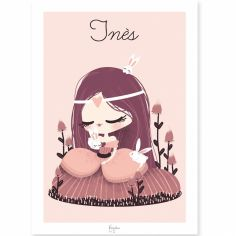 Affiche A4 La princesse aux lapins (personnalisable)
