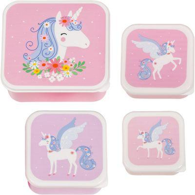 Lot de 4 boîtes à goûter Licorne  par A Little Lovely Company